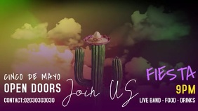 CINCO DE MAYO Facebook Cover Video (16:9) template