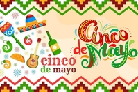 cinco de mayo Label template