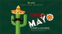 Cinco de mayo Digital Display 数字显示屏 (16:9) template