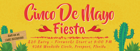 Cinco de Mayo Fiesta Event Invitation Banner Facebook Cover Photo template