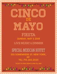 Cinco De Mayo Fiesta Flyer Template