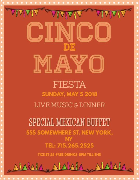 Cinco De Mayo Fiesta Flyer Template