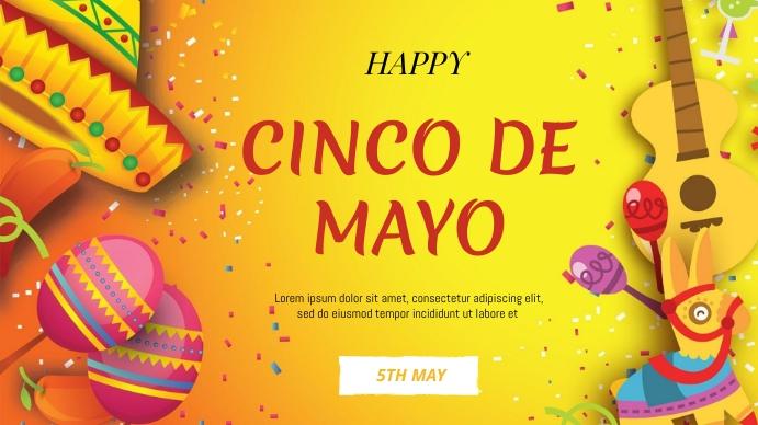 Cinco de mayo flyer Digital Display (16:9) template