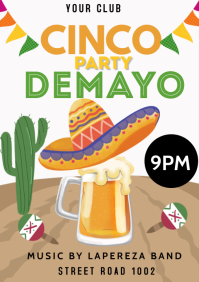 Cinco De Mayo Flyer A3 template
