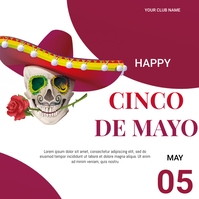 Cinco de mayo flyer Message Instagram template