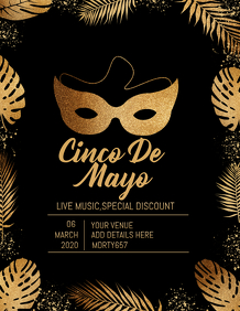 Cinco de mayo flyer template,event template,party template