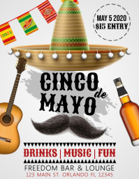 Cinco De Mayo Flyer Template Design