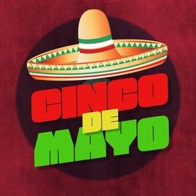 Cinco de Mayo instagram facebook video post Square (1:1) template