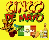 Cinco De Mayo Large Rectangle Video Persegi Panjang Besar template