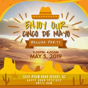 Cinco de Mayo Mexican Fiesta Invitation