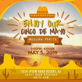Cinco de Mayo Mexican Fiesta Invitation