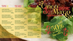 Cinco De Mayo Mexican Menu Template Pantalla Digital (16:9)