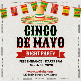 Cinco de mayo night party instagram post desi template