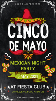 Cinco de Mayo Party at Club Digital Signage template