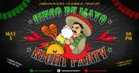 CINCO DE MAYO PARTY BANNER Facebook Shared Image template