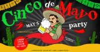 CINCO DE MAYO PARTY BANNER delt Facebook-billede template
