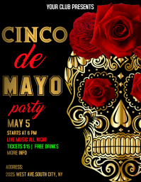 cinco de mayo party Ulotka (US Letter) template