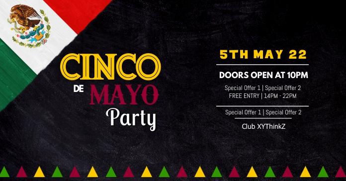 Cinco de Mayo Party Event Club Event Restaura Anúncio do Facebook template