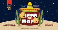 Cinco de Mayo Party Facebook Shared Image delt Facebook-billede template