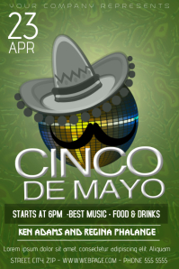 cinco de mayo party fest flyer template
