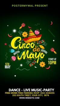 Cinco de mayo Party Flyer Instagram Story template