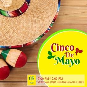 Cinco De Mayo Party flyer Album Omslag template