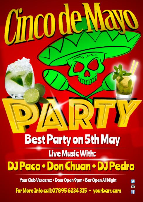 Cinco de Mayo Party Flyer template | PosterMyWall