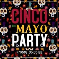 Cinco de Mayo Party Video Promo Ad Bar Club Festival Square (1:1) template