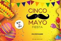 Cinco De Mayo poster design Marketing advert Banner 4' × 6' template