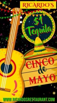 Cinco de Mayo Poster Promo Template Tampilan Digital (9:16)