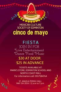 Cinco De Mayo Poster Template Cartaz