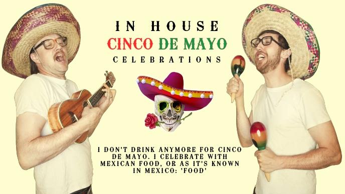 Cinco De Mayo Poster Template Facebook Cover Video (16:9)
