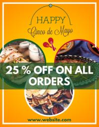 cinco de mayo sales for restaurant Flyer (format US Letter) template