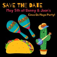 Cinco De Mayo Save the Date Message Instagram template