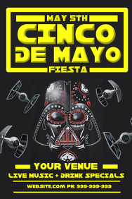 Cinco De Mayo Star Wars Poster