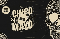 Cinco de Mayo Template Banner 4' × 6'