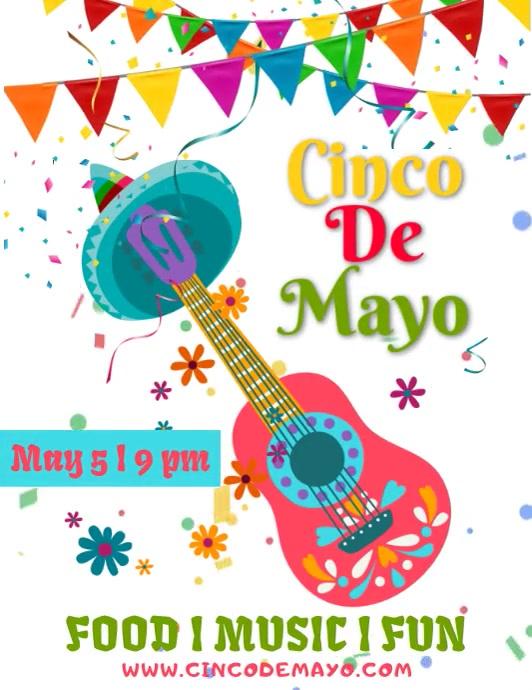 Cinco de Mayo Template Flyer (US Letter)