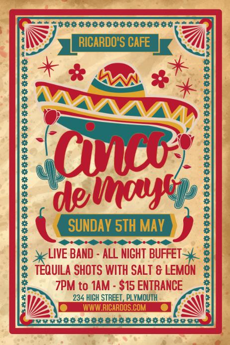 Cinco de Mayo Vintage Poster