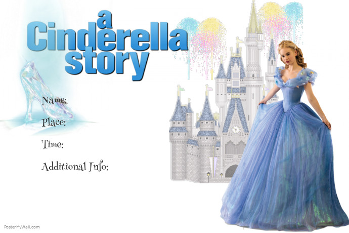 cinderella story invite template postermywall
