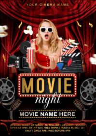 cinema night A4 template