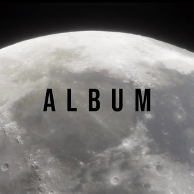 Cinematic moon album cover video template