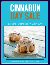 CINNABUN CINNABON SALE DAY FLYER TEMPLATE