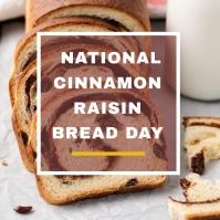 CINNAMON RAISIN BREAD Instagram-opslag template