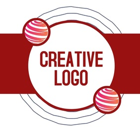 circle logo icon design digital video