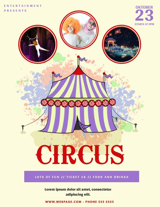 Zirkus Karneval Flyer Vorlage Vorlage Postermywall