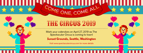 Circus Clowns Event Facebook Banner