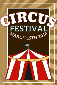 Customizable Design Templates For Circus Party Postermywall Flyer