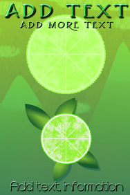 cirtus lime mountains, blue full moon customizable poster