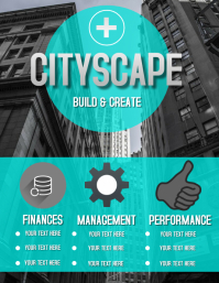 CITY CORPORATE BUSINESS FLYER Template Folheto (US Letter)
