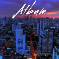 City Drone Night album cover video 3 template